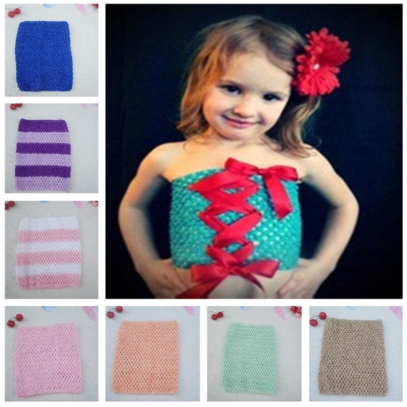2017 Top Sales Retail 9 Inch Tutu Crochet Tube Top Girls Stretch
