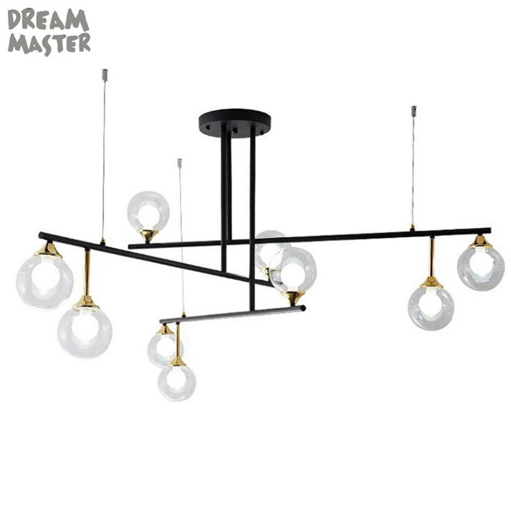 Nordic LED Chandeliers Glass Lighting Minimalist art decor lustre Chandeliers for Living Room Bedroom Bar Restaurant