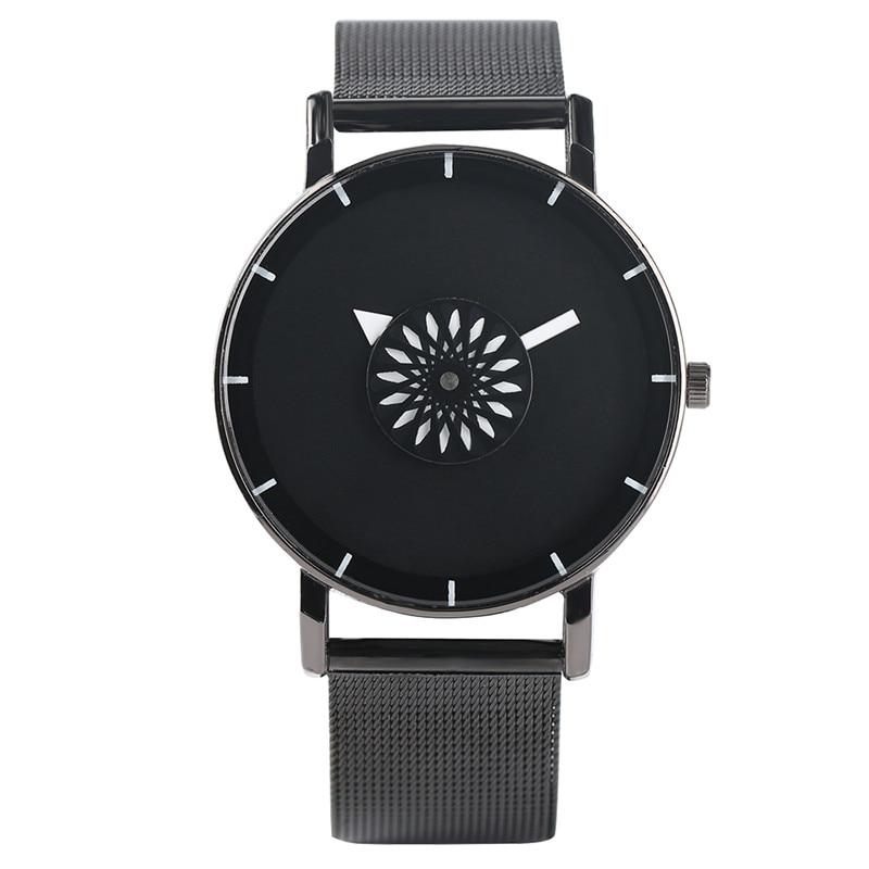 купить Cool Round Creative Simple Women Sport Quartz Analog Casual Stainless Steel Men Metal Wrist Watch Minimalist Modern Fashion дешево