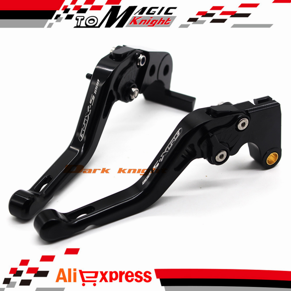 ФОТО For SUZUKI GSX-S1000 GSX-S 1000 1000F 2015-2016 Black Motorcycle CNC Billet Aluminum Short Brake Clutch Levers Logo GSX-S1000