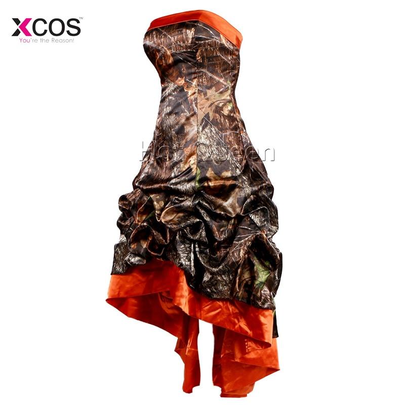 Real Sample Halfter Ballkleid Hochzeitskleider Sleeveless Camouflage ...