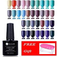 UR SUGAR 16Pcs With 6W UV Lamp 7.5ml Soak Off UV Gel Polish Pure Pink Nude Glitter Long Lasting Nail Art Gel Manicure Lacquer