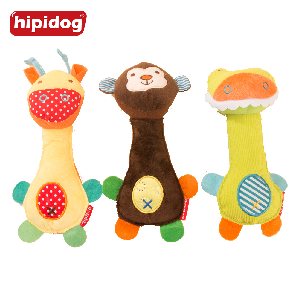 Hipidog Pet Dog Funny Sound Dog Squeaky Toys Animal Plush Resistant Toys for Puppy Chew Squeak Pet Supplies Pet Accessories