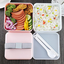 3 Colors 1200ml Double Layer Lunch Box Large Capacity Microwave Oven Lunch Bento Boxes Dinnerware Lunch Box Kitchen Accessories large capacity microwave lunch box with spoon