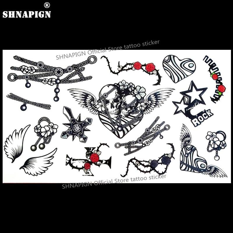 Us 057 22 Offshnapign Phantom Rower Jeździec Tymczasowy Tatuaż Tatuaże Zmywalne Naklejki Body Art 1710 Cm Wodoodporny Fałszywy Car Styling