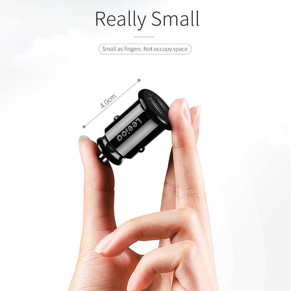 Mini Dual USB Car Charger Adapter 4.8A Car cigaretter lighter  Phone Car USB Charger Auto Charge 2 Port 24W for Samsung iPhone