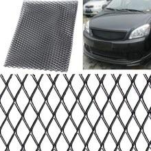 Универсальная черная/серебристая алюминиевая гоночная решетка, сетчатая вентиляционная решетка для тюнинга автомобиля, гриль 100 см x 33 см