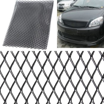 Universal Black/Silver Aluminium Racing Grille Mesh Vent Car Tuning Grill 100cm x 33cm