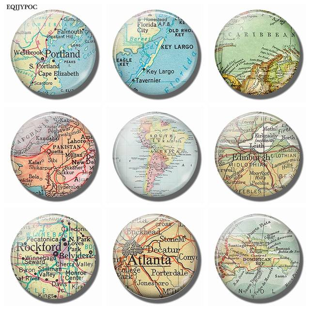 Map Of America Rockford.Us 0 58 55 Off Souvenir Map Dominican Atlanta Rockford Edinburgh South America Pakistan Portland Florida Caribbean Fridge Magnet Refrigerator In