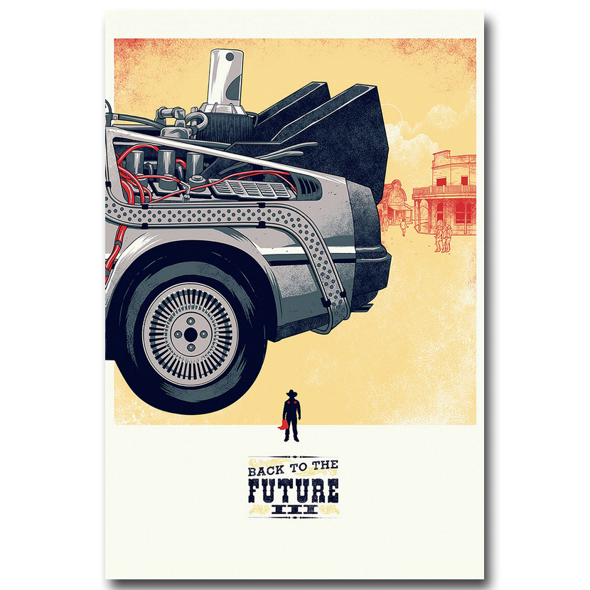 NICOLESHENTING Back To The Future Part 3 Art Silk Fabric Poster Print 13x20 24x36inch Classci Movie Pictures Home Wall Decor 02