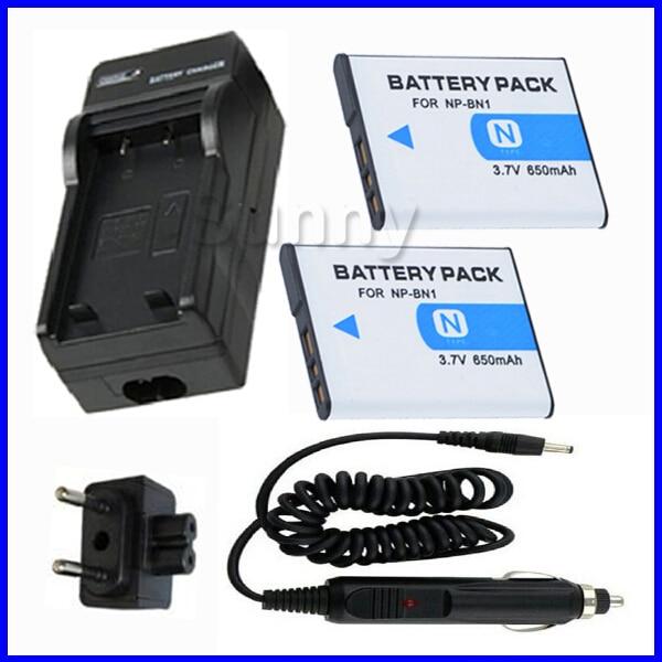 Batteria (2-Pack) + Caricabatterie per Sony Cyber-shot dsc-DSC-TX200V, DSC-W800, DSC-W810, DSC-W830, DSC-TF1, DSC-QX10, DSC-QX100 Fotocamera Digitale