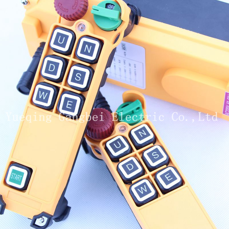 HS-6S (include 2 transmitter and 1 receiver)  crane remote control  Your order note need voltage:380VAC 220VAC 36VAC  24VDC 12v 24v hs 10 industrial remote control crane transmitter 1pcs transmitter and 1pcs receiver