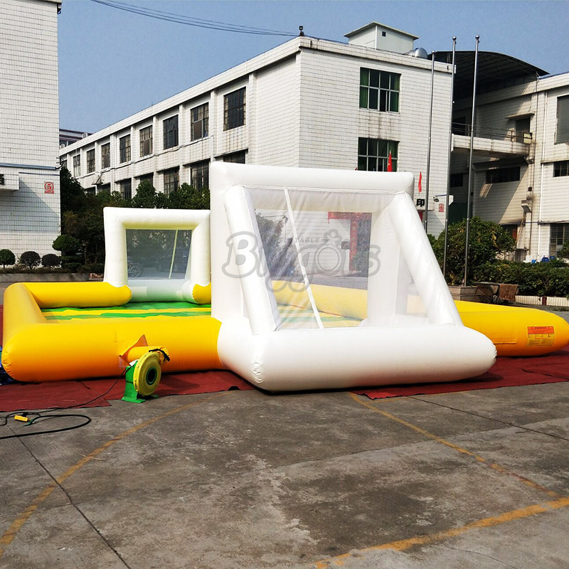 Outdoor inflatable soccer field football soapy stadium with low price