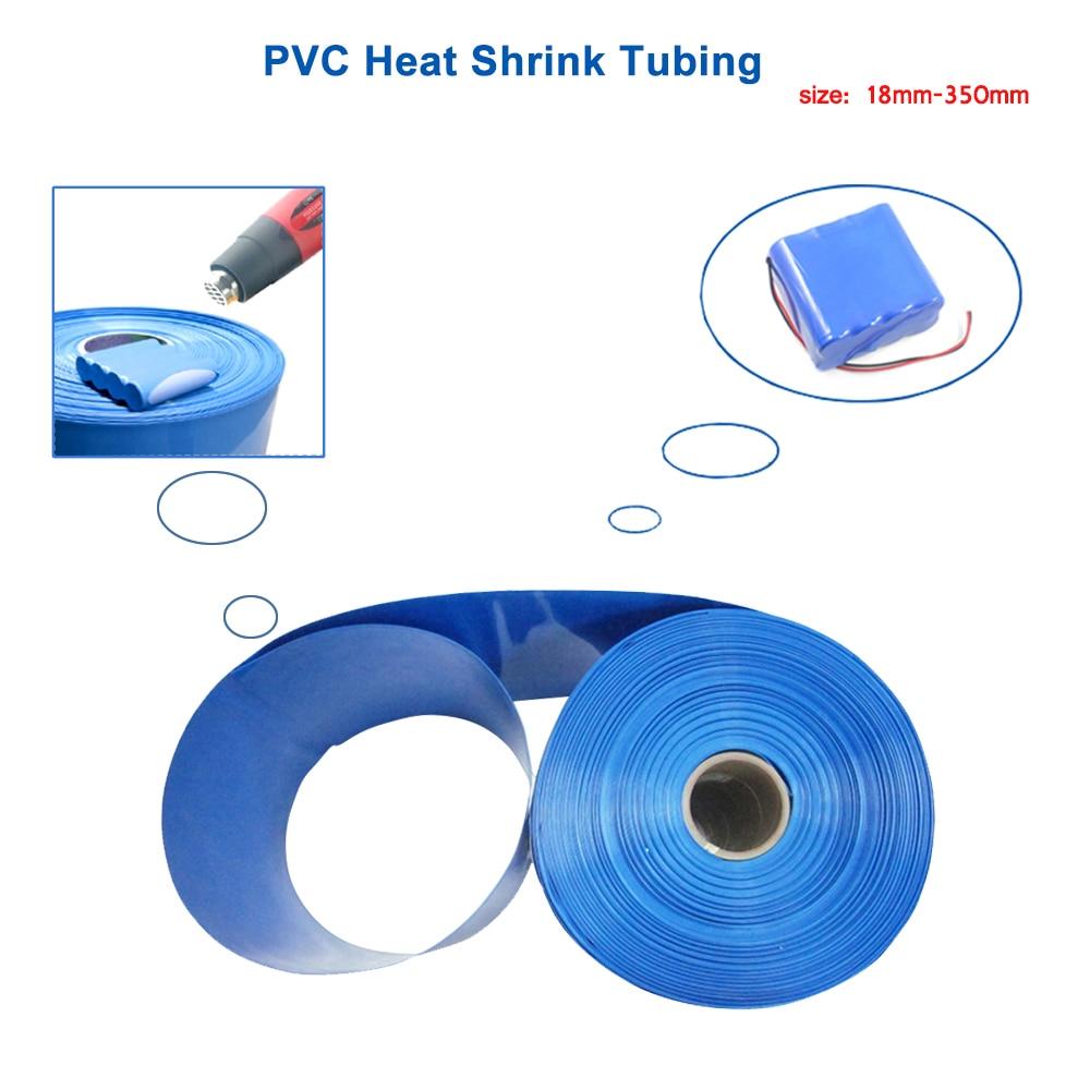 2M 30mm Dia Polyolefin Heat Shrinkable Tube Shrink Tubing Blue
