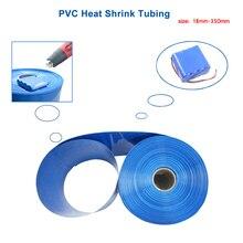 2 м ПВХ термоусадочная трубка 18-350 мм синяя термоусадочная упаковка Термоусадочная трубка 18650 для изоляции аккумулятора термоусадочная труб...