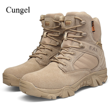 Cungel Outdoor Men Hiking shoes Military Desert Combat boots High quality Mountain Trekking Climbing shoes Army Tactical boots men military tactical boots leather outdoor combat army hiking shoes trekking mountain climbing boots sneakers wrestling shoes