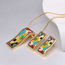 New for 2017: Vintage Gold Coloured Pendant Necklace. Made with Colourful Enamelled Zinc Alloy. The Perfect Birthday Gift for Friends and Family.
