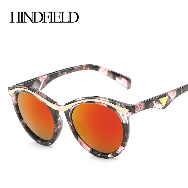 e1c72209e2094 HINDFIELD Fashion Round Sunglasses Women Luxury Brand Designer UV400 oculos  de sol feminino