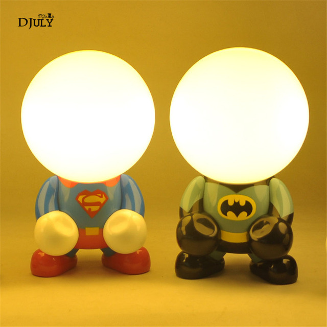 Batman Lumières Chambre Man Enfants Spider Usb Pour Nuit De Lampe Table Lumière Vacances Bébé Led Cadeau Recharge Livre OPkuZiTwlX
