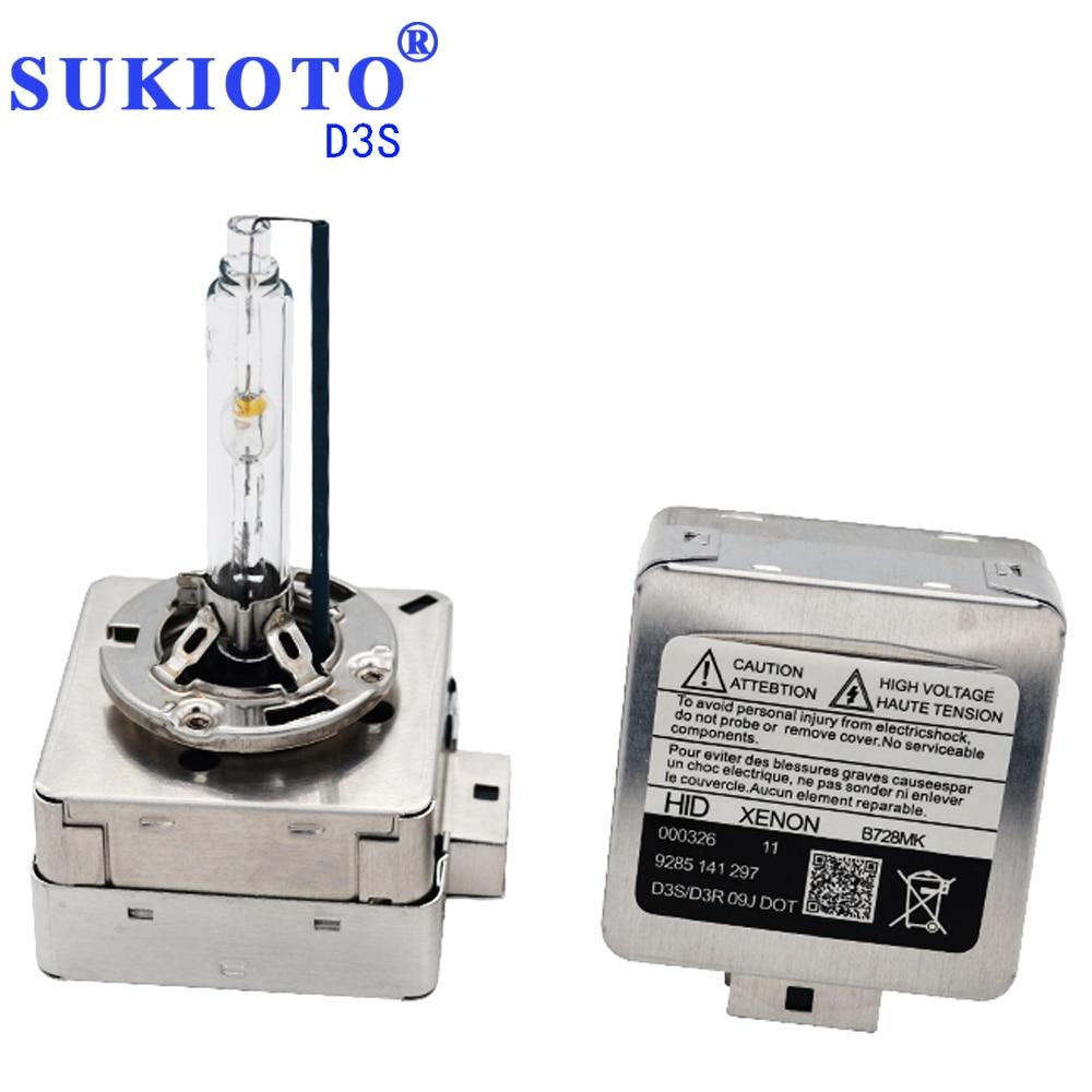SUKIOTO Original 35W55W Fast Bright D1S xenon 5000K 4300K 8000K 6000K D3S Metal Base Claw HID Xenon Bulb Car Headlight Styling