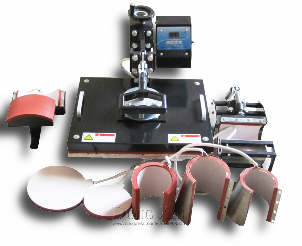 8 In 1 Combo Heat Transfer Machine For Mug Cap Plate T Shirt