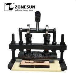 ZONESUN 26x12cm podwójne koła ręcznie maszyna do cięcia skóry papieru fotograficznego pcv/EVA foremka skóry maszyna do cięcia narzędzie w Roboty kuchenne od AGD na