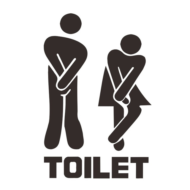 Fun Toilet Sign Sticker