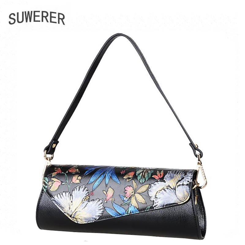 SUWERER 2017 new Genuine Leather women bags for women luxury handbags women bags designer clutch bag Shoulder Bag suwerer new genuine leather women bags special craftsmanship fashion luxury handbags women bags designer women leather handbags