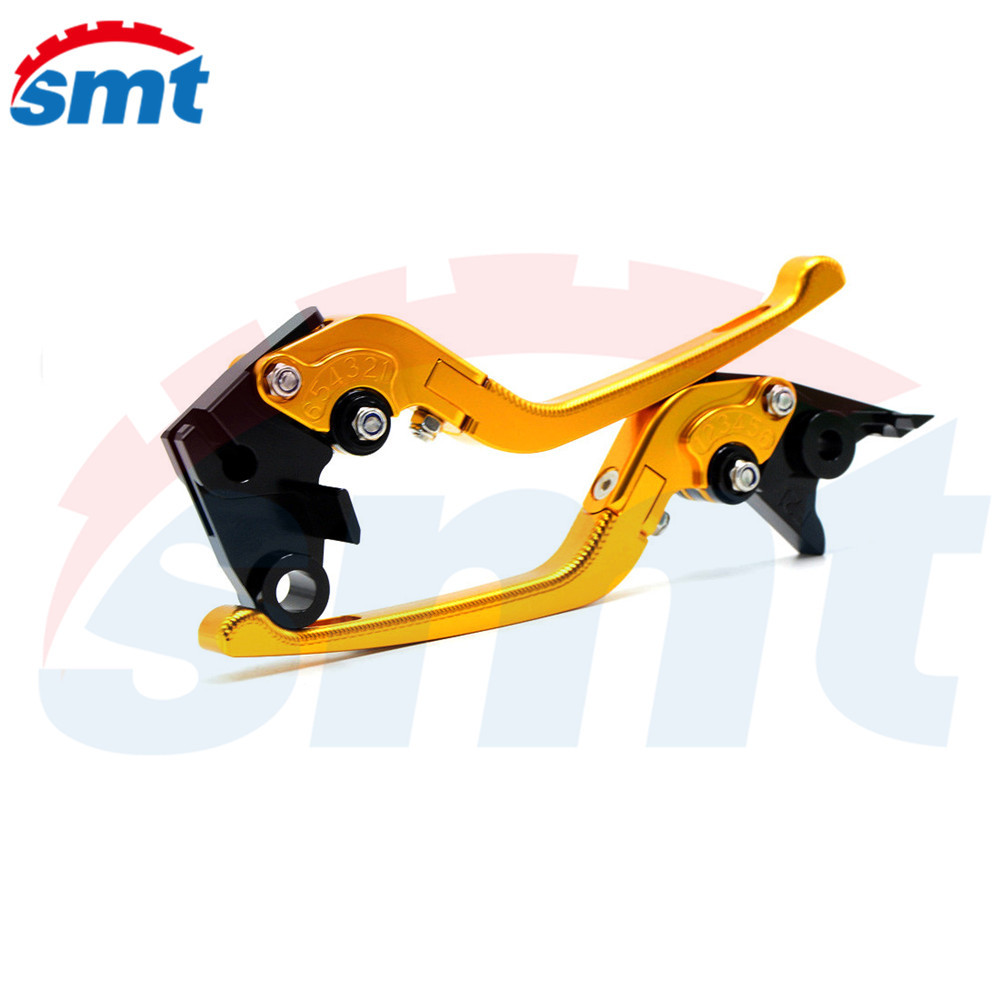 New Anti-Slip Motorcycle Adjustable CNC 3D Folding Brake Clutch Levers Golden Color  For Honda CBR250R CBR300R CBR500R CB500F billet new alu long folding adjustable brake clutch levers for honda cbr250r cbr 250 r 11 13 cbr300r 14 cbr500r cb500f x 13 14