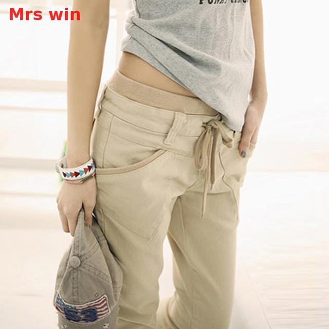 Señora Win pantalon cargo mujer caqui Pantalones cargo mujeres ejército  verde Militar Pantalones mujer camuflaje Pantalones 1496388b8ee1