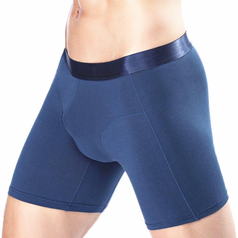 Plus Size Fashion Quality Cotton Long Leg Men Boxer Shorts Sexy Man underwear Homewear Brand Boxer Cueca Calzoncillos Hombre