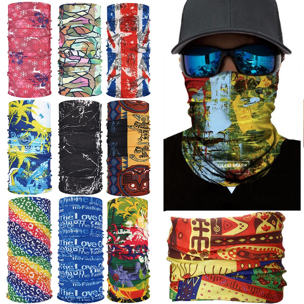 Outdoor Sport Magic Scarf Neck Warmer Tube Camping Hiking Motorcycle Cycling