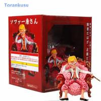 One Piece Anime Figure Donquixote Doflamingo Action Figure Sofa Q Ver PVC GK Model Hot Toys Kids Gift Anime One Piece Doll PG