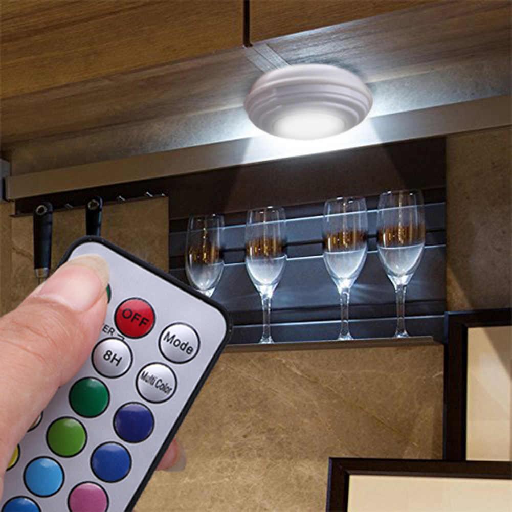 13 цветов 3 светодиодный беспроводной дистанционный датчик касания с регулируемой яркостью светодиодный светильник под шкаф для гардероба прихожей лестницы кухни светодиодный ночник