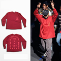 2016 Top Kanye West I Feel Like Pablo Yeezy Season 3 oversized men's long sleeve t shirt hiphop Casual clothing Lovers tee red