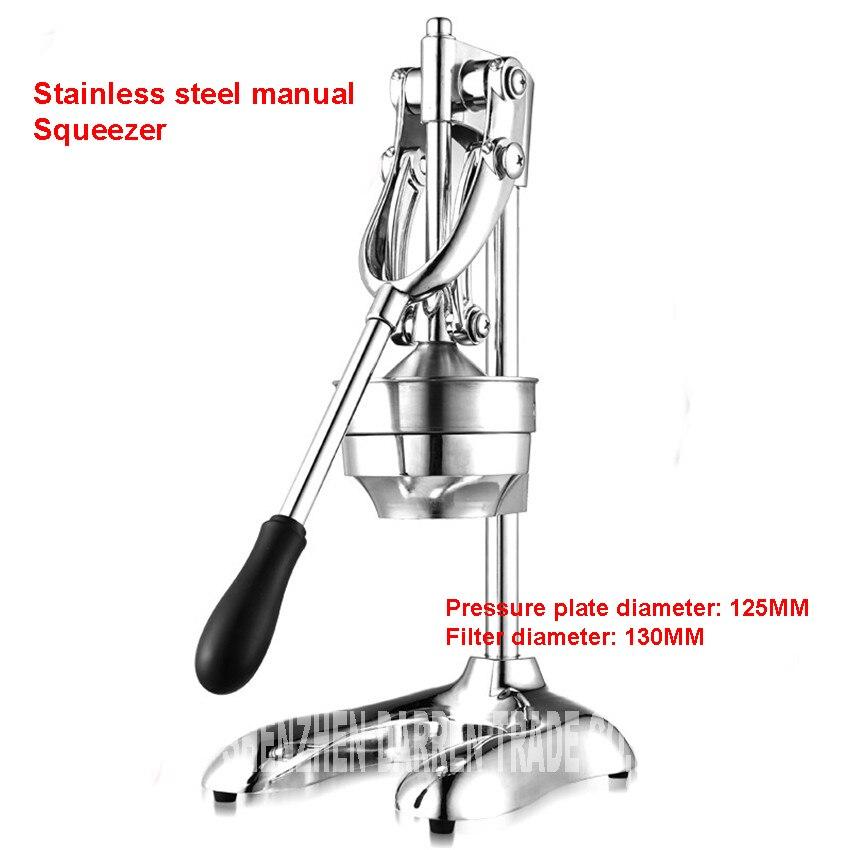 Home 304 Stainless steel citrus juicer orange lemon lemon fruit juicer manual hand press juicer commercial pressing machine manual lemon orange juicer light green