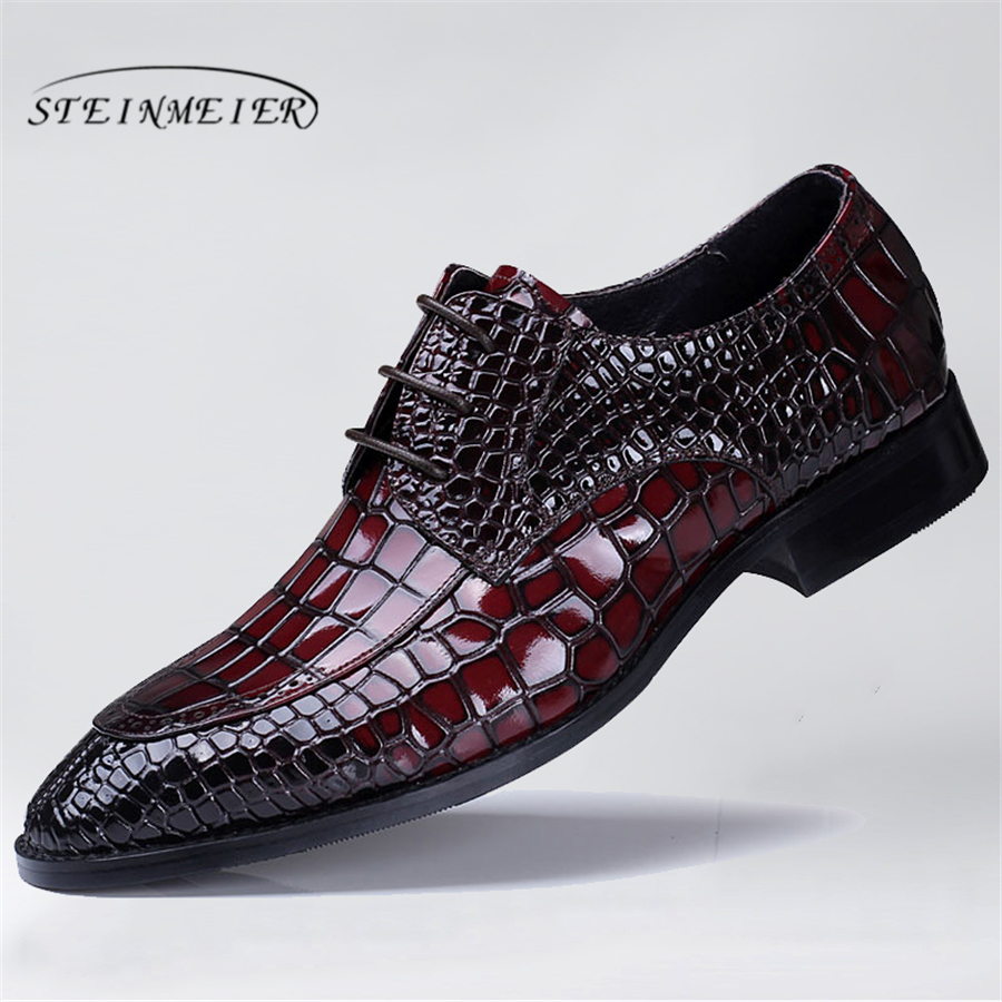 Genuine cow leather brogue Wedding shoes mens casual flats shoes vintage handmade oxford shoes for men black red 2019 spring кольцо с 1 горным хрусталем из серебра
