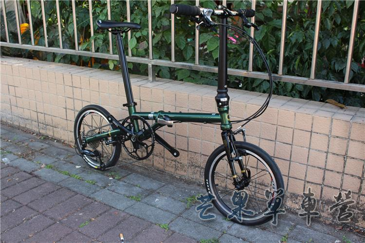 "HTB1SoiEXJfvK1RjSspoq6zfNpXaA Fnhon CR-MO Steel Folding Bike 16"" Minivelo Mini velo 9 Speed Bike Bicycle overall bike V Brake"