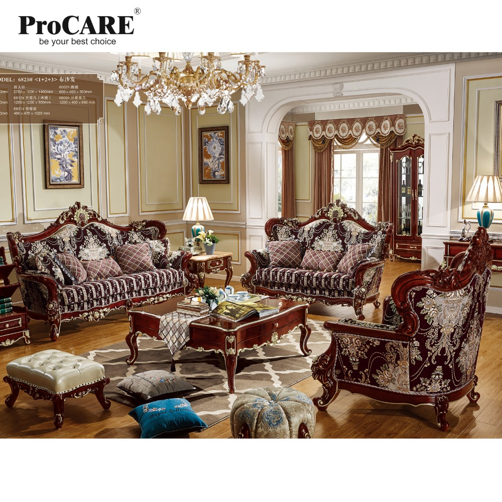 Luxury living room furniture european style armchair for Luxury living room sofa