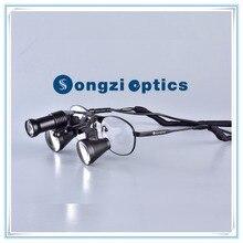 Ультра-светильник(2.5X 3X 3.5X опционально) титановая рамка Бинокулярные медицинские зубные Хирургические лупы и SZ-1A светодиодный светильник с светильник
