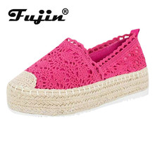 лучшая цена Fujin Europe and The United States Autumn Sponge Shoes Women Shoes Thick Bottom Large Size One Foot Casual Mother Single Shoes