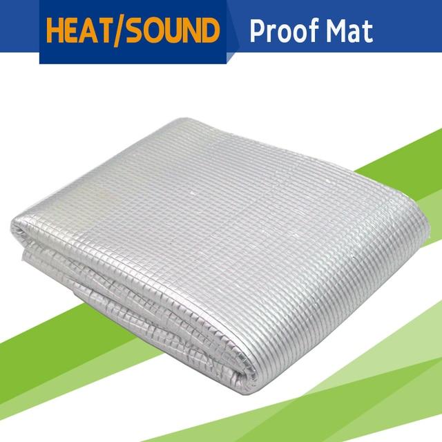 "48"" x 40"" Car Heat Shield Sound Insulation Proof Mat Material Deadening Deadener Anti Noise For Firewall Door Hood Ceiling Trunk"