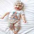 2017 bebé de la Manera ropa linda ropa de recién nacido de Flores T shirt + pants 2 unids traje casual ropa de bebé conjunto infantil ropa