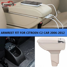 CITYCARAUTO BIGGEST SPACE+LUXURY+USB Car armrest box central Storage content box with cup holder USB FIT FOR CITROEN C2 2006-12