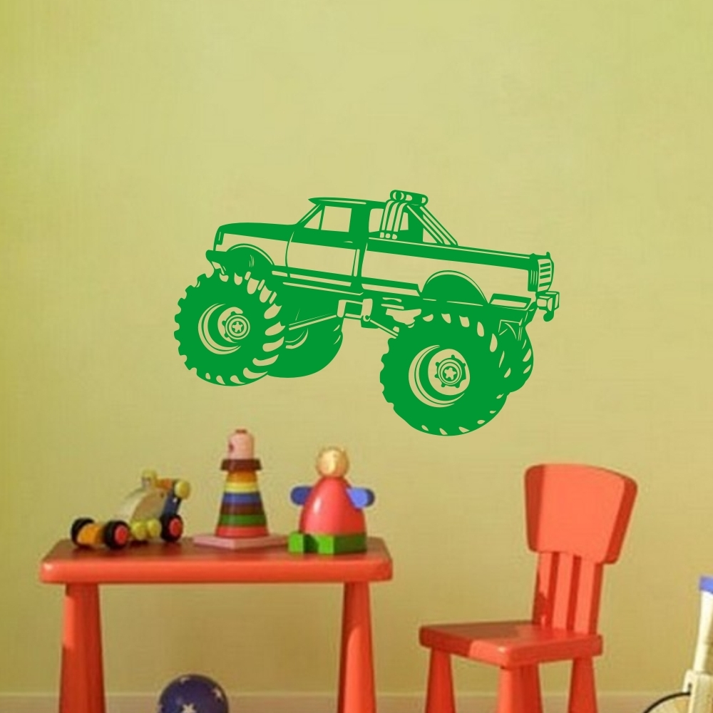 Decorative SUV Wall Decal Off Road Vehicle Vinyl Sticker for Kids ...