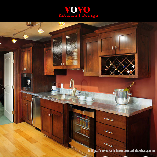 Ready to assemble red cherry kitchen cabinets K007-in ... |Red Cherry Kitchen Cabinets
