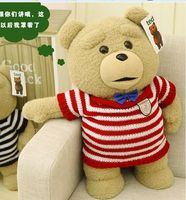 big lovely plush teddy bear doll creative red stripe sweater Ted bear toy gift about 60cm