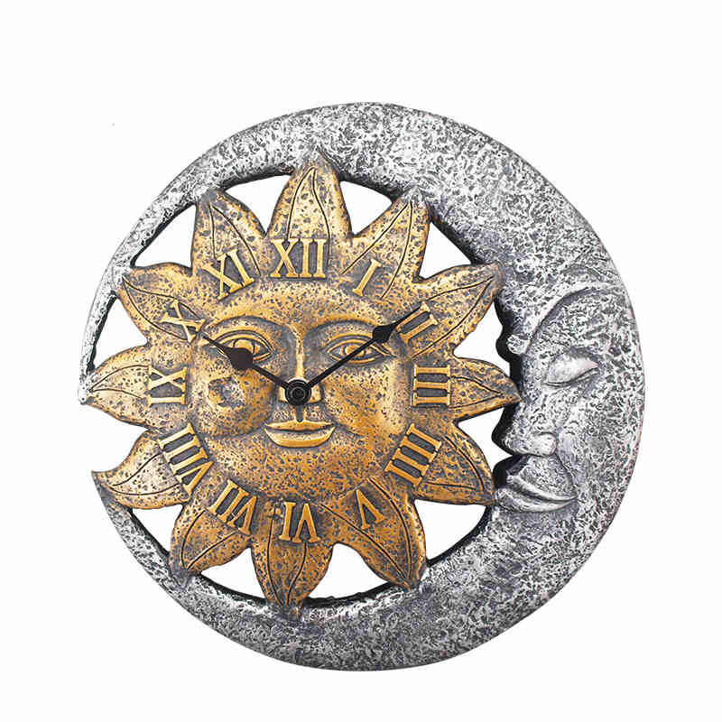 Aliexpresscom Buy Sun Moon Wall Clock Creative Watch European