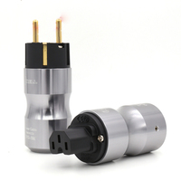 Frete Grátis Um Par Krell Versão 24 k Banhado A Ouro de Áudio Schuko Power Plug Para Cabo De Alimentação De Áudio|Plugues e conectores| |  -