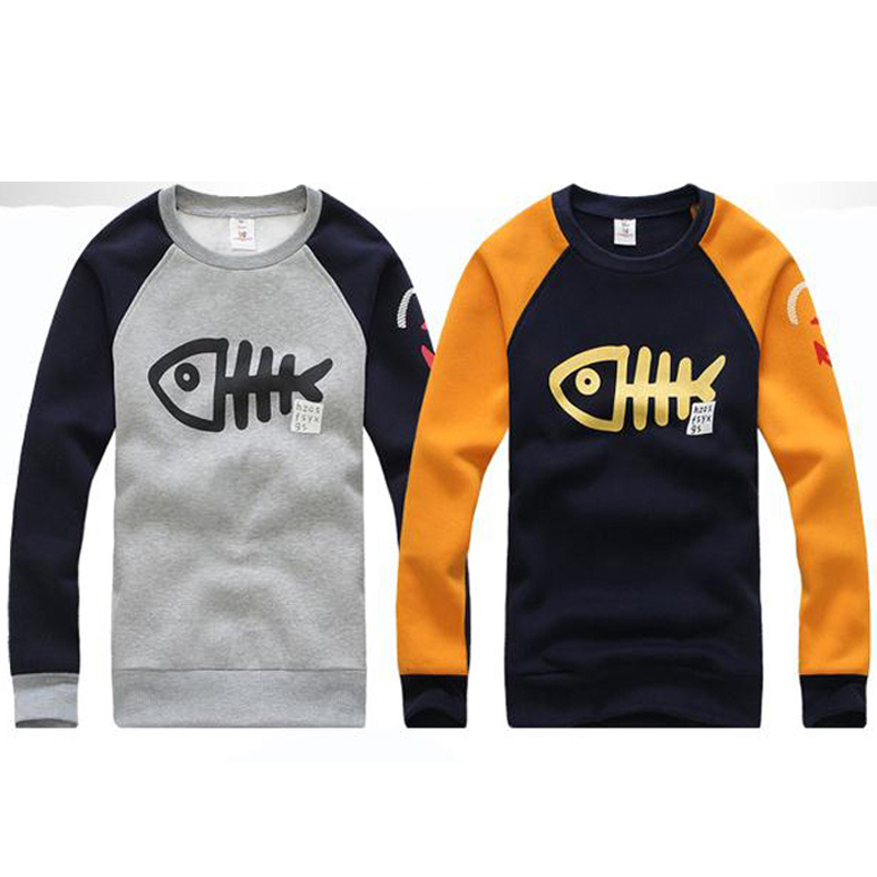 6da11616447 2016 New Arrival Men s Casual Fashion Hoodie Big Fish Design Autumn Winter  Wear Sweatshirt MWW207-in Hoodies   Sweatshirts from Men s Clothing on ...